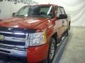 2009 Victory Red Chevrolet Silverado 1500 LS Crew Cab 4x4  photo #4
