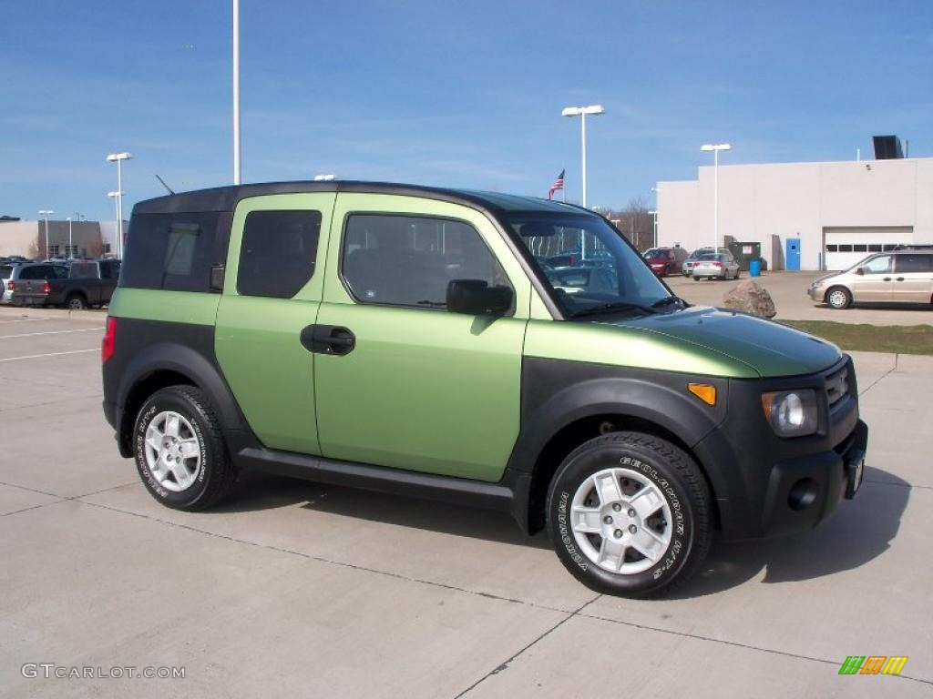 kiwi green metallic 2008 honda element lx awd exterior