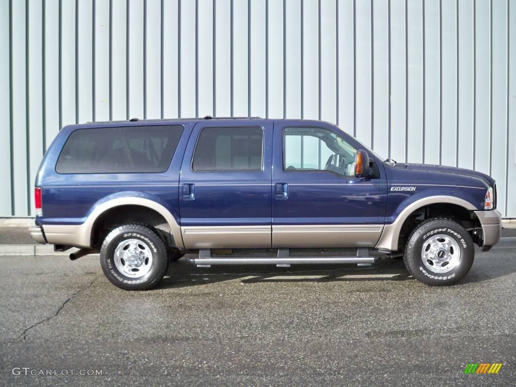 2005 True Blue Metallic Ford Excursion Eddie Bauer 4x4