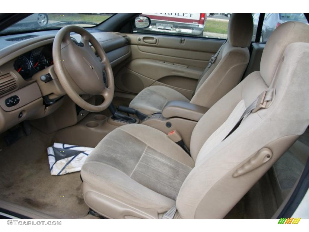 Sandstone Interior 2004 Chrysler Sebring Convertible Photo 47223143