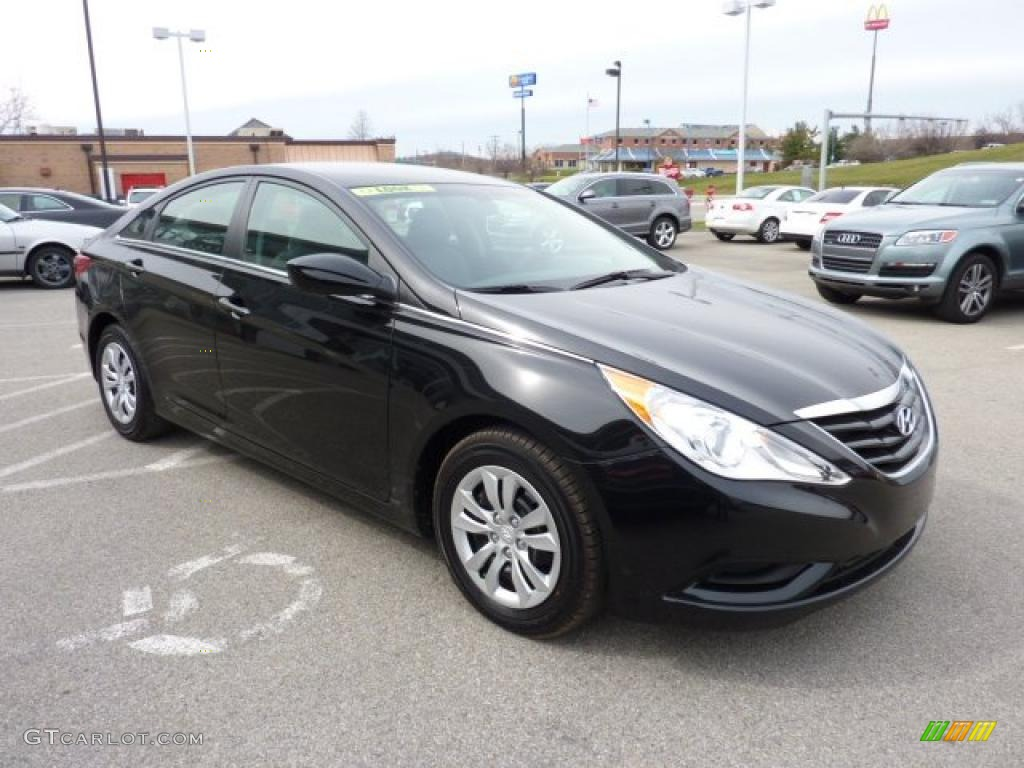 Midnight Black 2011 Hyundai Sonata Gls Exterior Photo 47225192 Gtcarlot Com