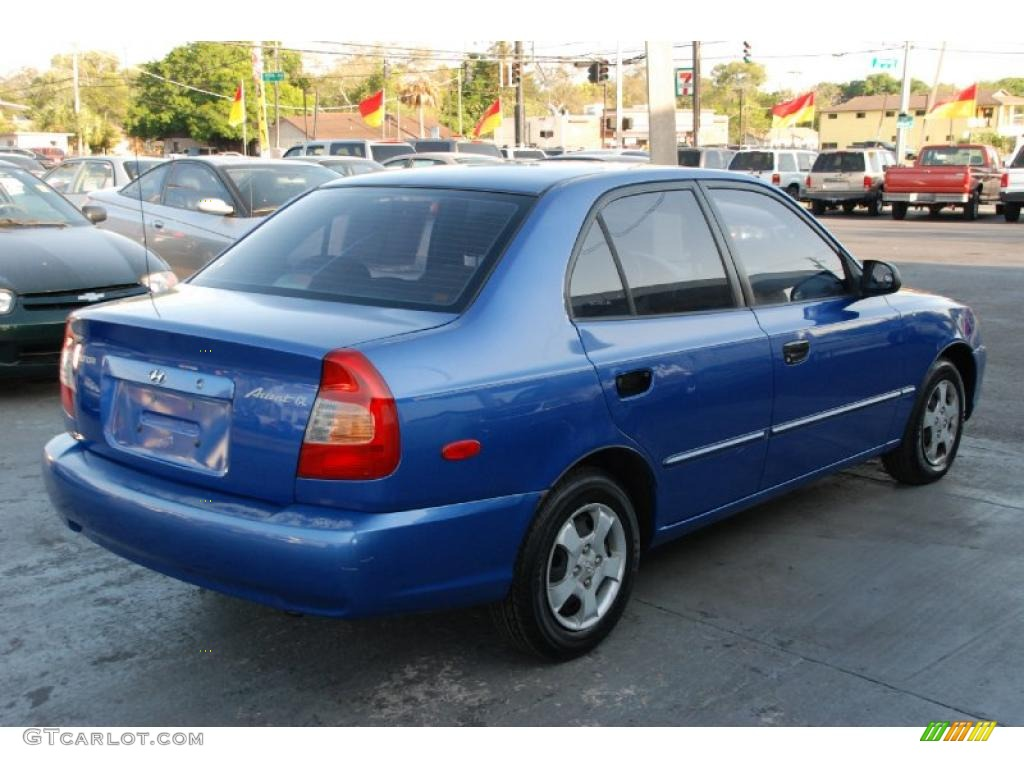 Coastal Blue 2002 Hyundai Accent Gl Sedan Exterior Photo