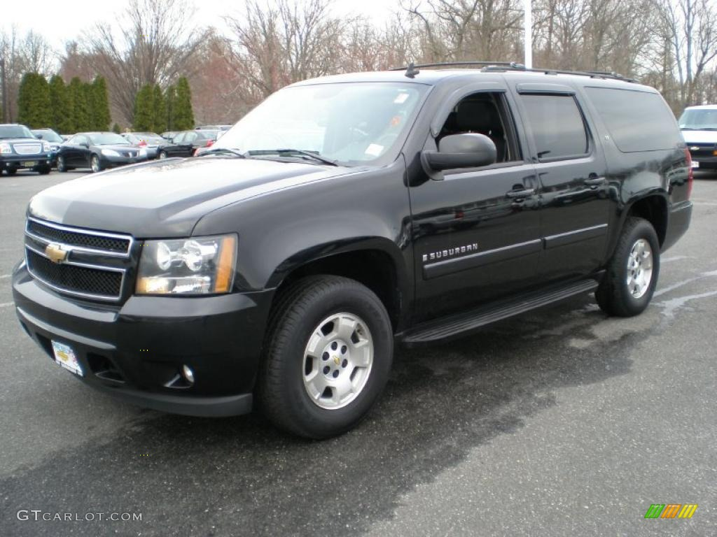 2007 black chevrolet suburban 1500 lt 4x4 47157380. Black Bedroom Furniture Sets. Home Design Ideas