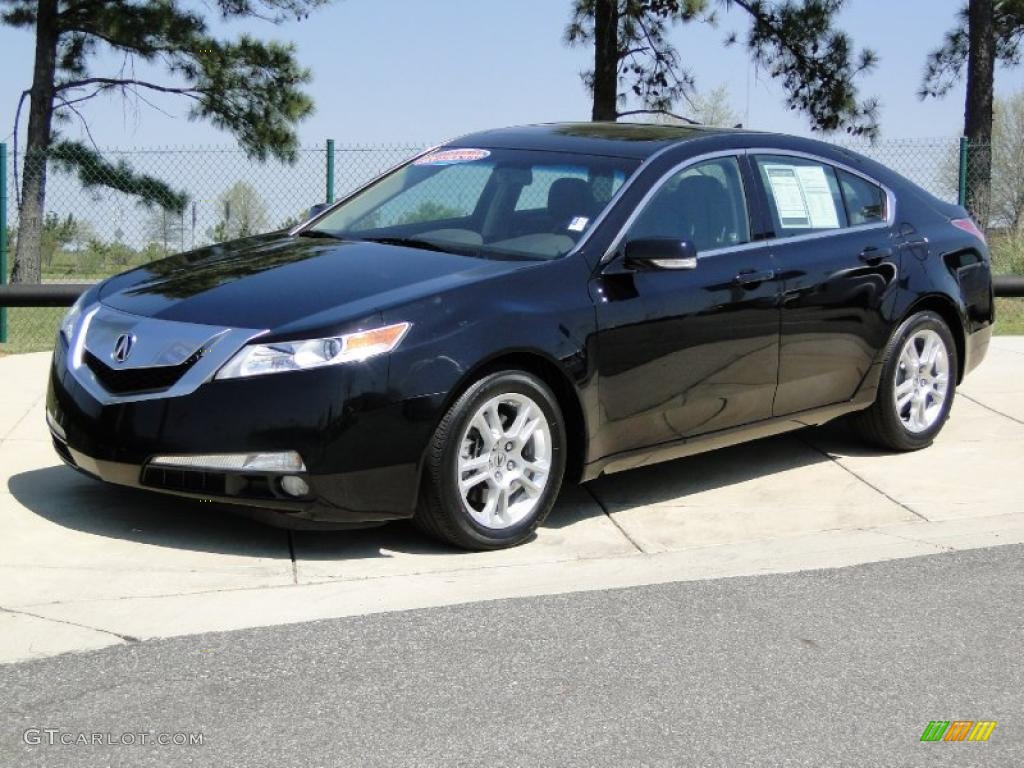 crystal black pearl 2009 acura tl 3 5 exterior photo. Black Bedroom Furniture Sets. Home Design Ideas