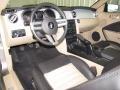 2009 Ford Mustang Black/Tan Interior Steering Wheel Photo