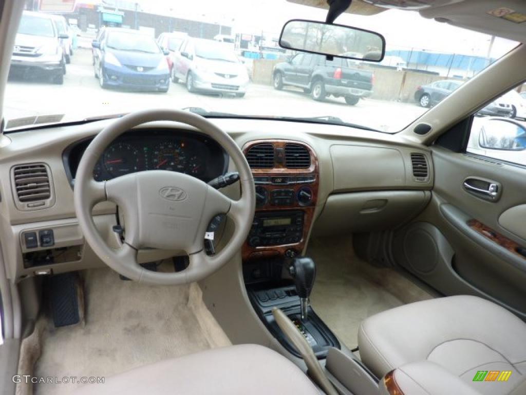 Beige Interior 2001 Hyundai Sonata Gls V6 Photo 47237633