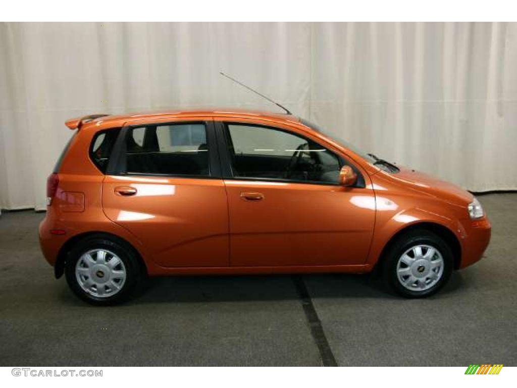 Spicy Orange Metallic 2005 Chevrolet Aveo Ls Hatchback