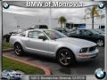 2007 Satin Silver Metallic Ford Mustang V6 Deluxe Coupe  photo #1