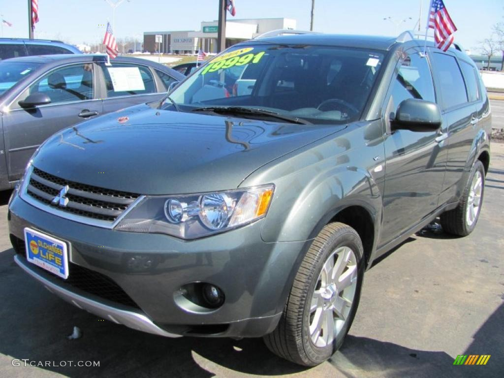 2008 manitoba green metallic mitsubishi outlander xls 4wd 47251971 car color. Black Bedroom Furniture Sets. Home Design Ideas