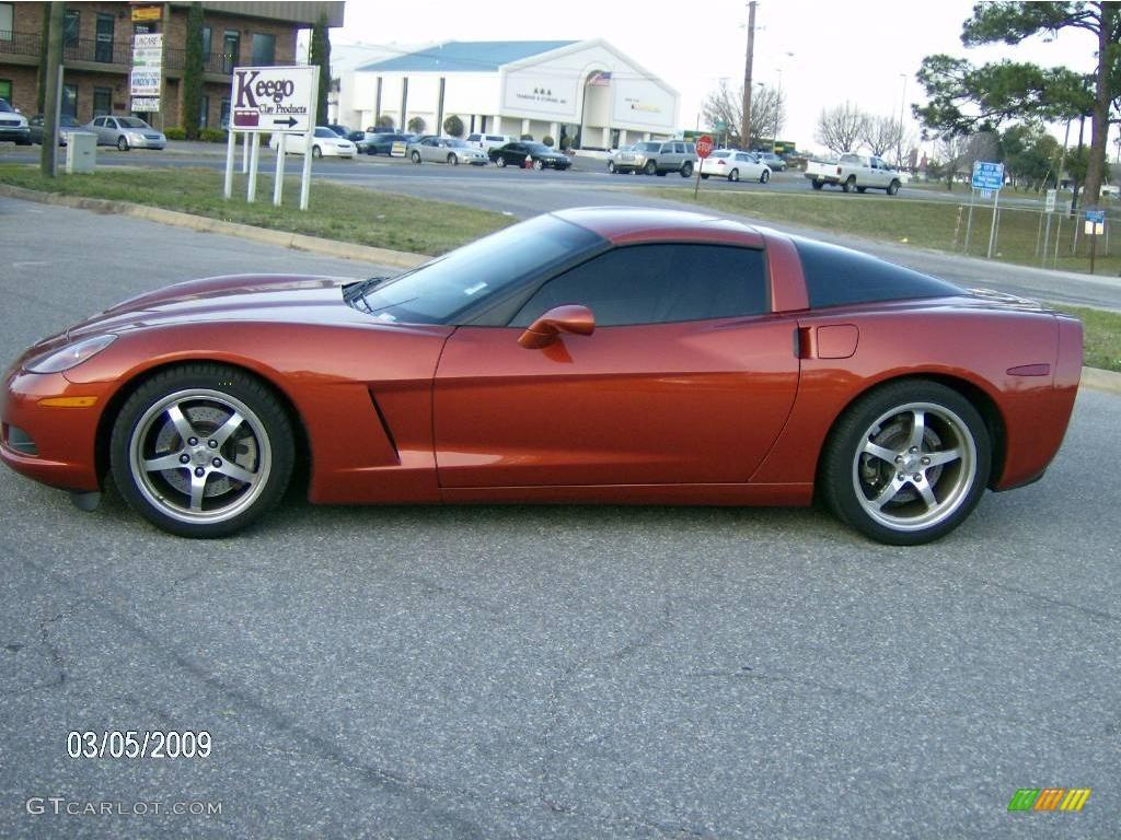 2005 daytona sunset orange metallic chevrolet corvette