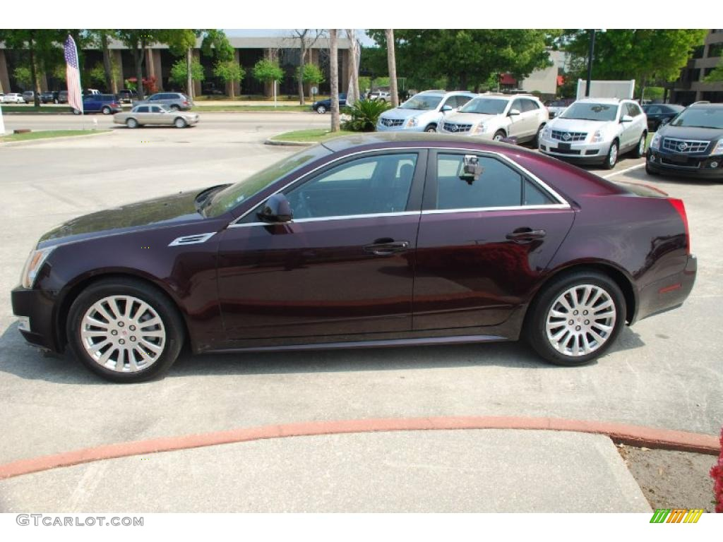 black cherry 2010 cadillac cts 3 6 sedan exterior photo. Black Bedroom Furniture Sets. Home Design Ideas