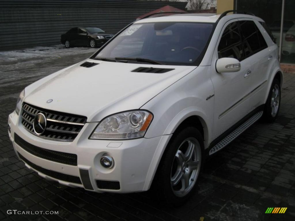 2007 alabaster white mercedes benz ml 63 amg 4matic 47252135 car color galleries. Black Bedroom Furniture Sets. Home Design Ideas