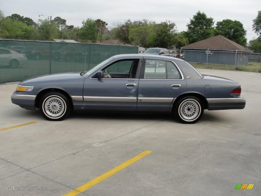 1992 Medium Blue Metallic Mercury Grand Marquis Ls