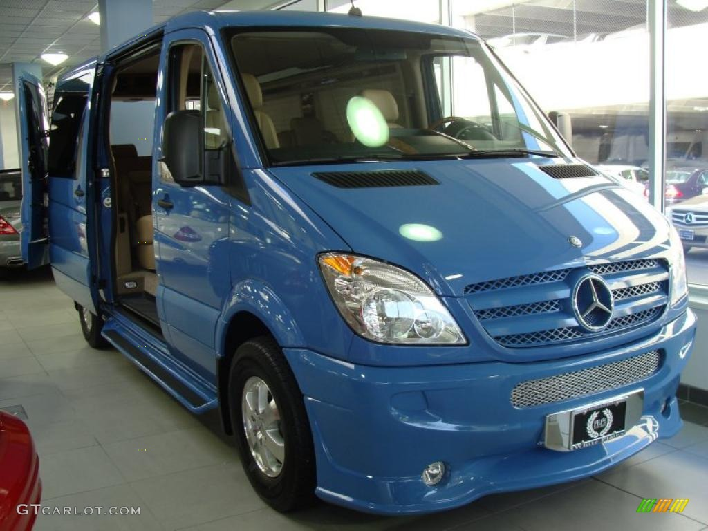 2011 brilliant blue mercedes benz sprinter 2500 passenger for Mercedes benz conversion van