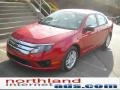 2011 Red Candy Metallic Ford Fusion S  photo #2