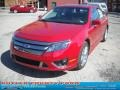 2011 Red Candy Metallic Ford Fusion Sport  photo #15