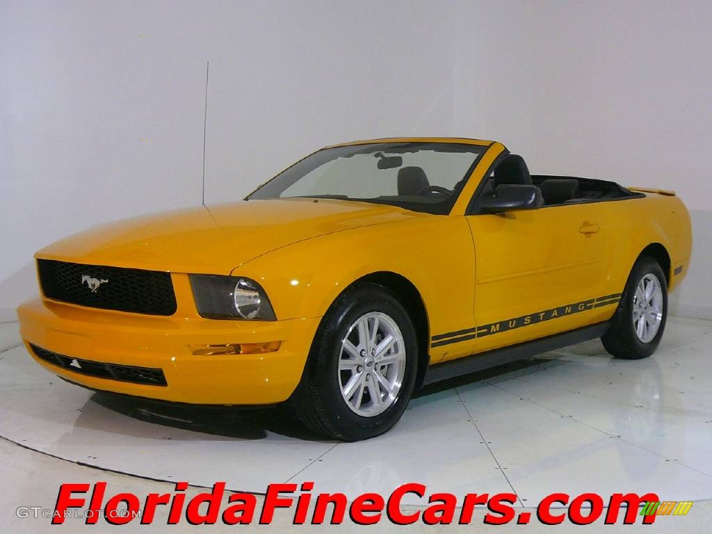 2007 Mustang V6 Premium Convertible - Grabber Orange / Dark Charcoal photo #1