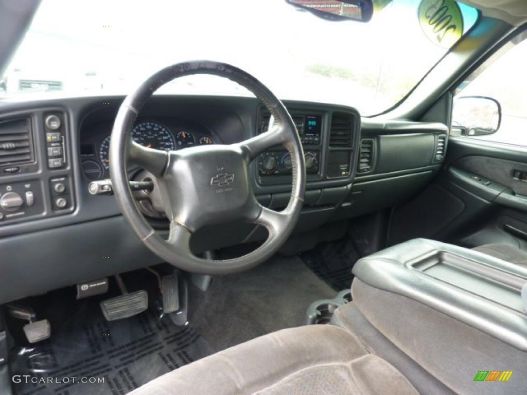 2002 Silverado 1500 LS Extended Cab 4x4 - Onyx Black / Graphite Gray photo #20