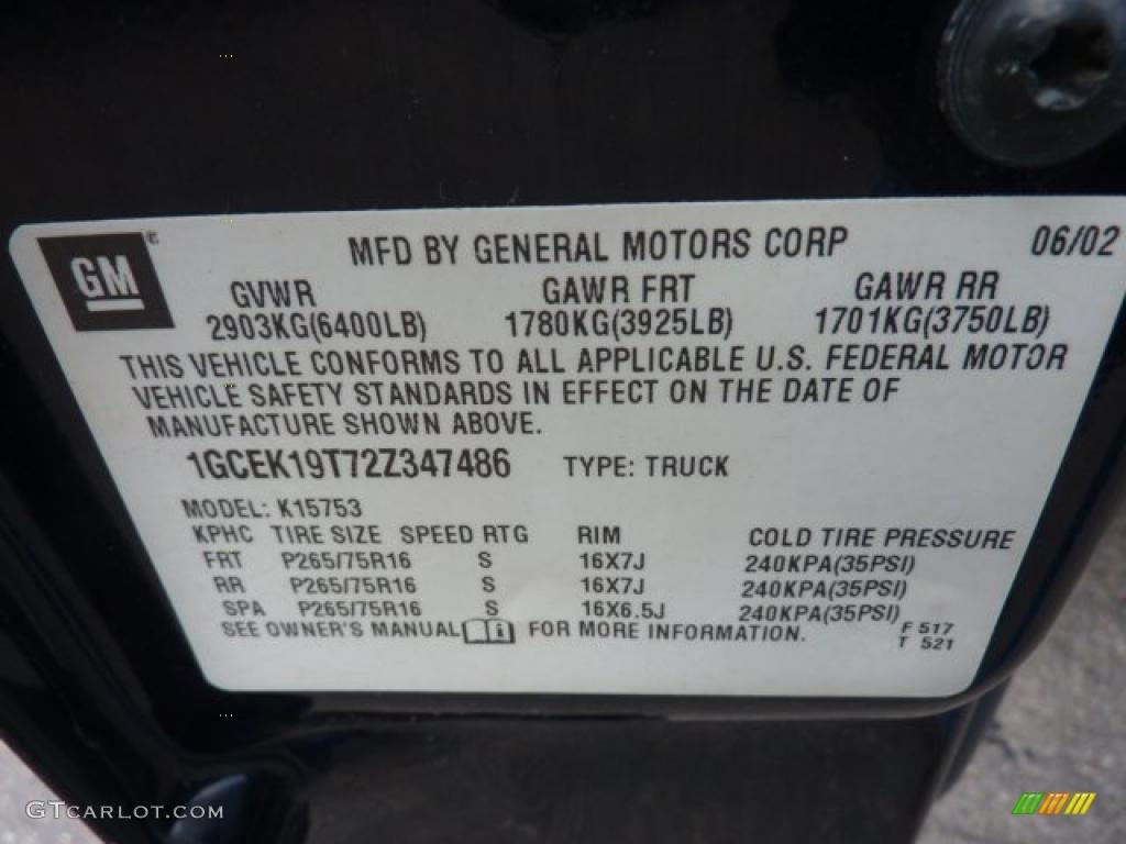 2002 Silverado 1500 LS Extended Cab 4x4 - Onyx Black / Graphite Gray photo #24