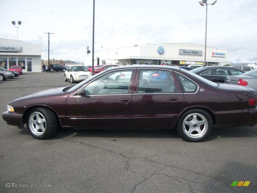 Dark Cherry Metallic 1996 Chevrolet Impala SS Exterior ...