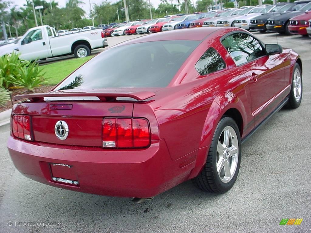 2006 Mustang V6 Premium Coupe - Redfire Metallic / Dark Charcoal photo #3