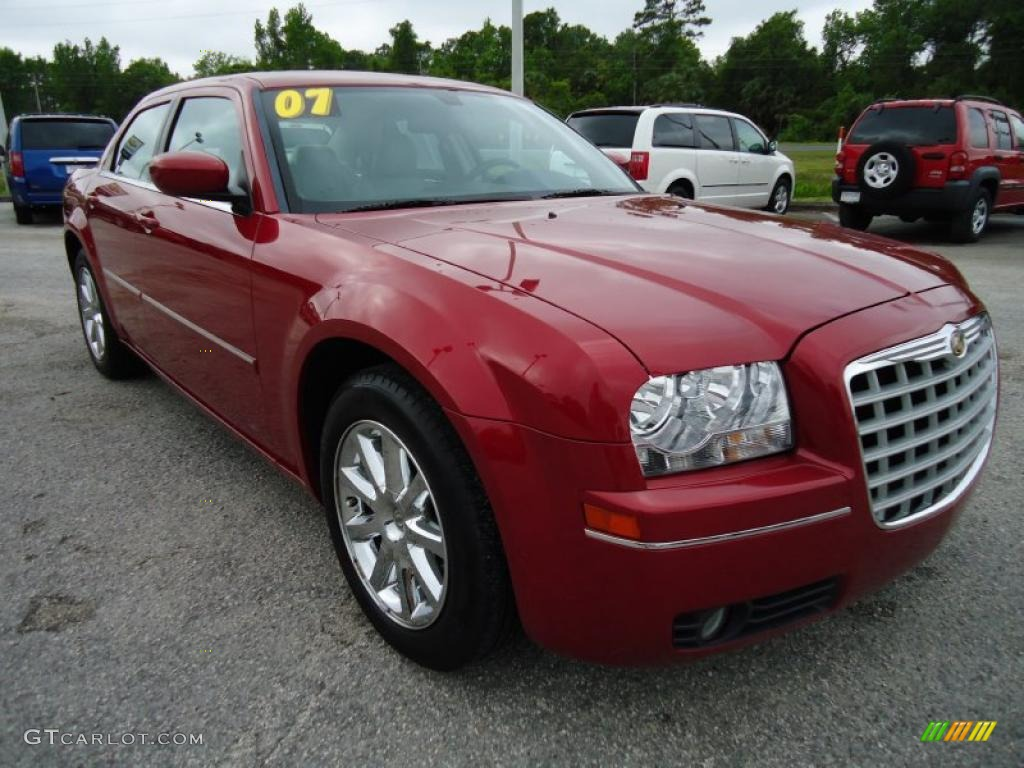 inferno red crystal pearlcoat 2007 chrysler 300 touring. Black Bedroom Furniture Sets. Home Design Ideas