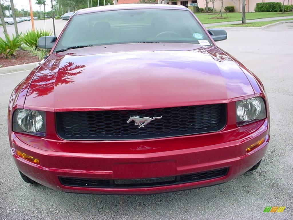 2006 Mustang V6 Premium Coupe - Redfire Metallic / Dark Charcoal photo #8