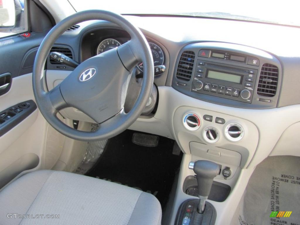 2007 Hyundai Accent Gls Sedan Gray Dashboard Photo