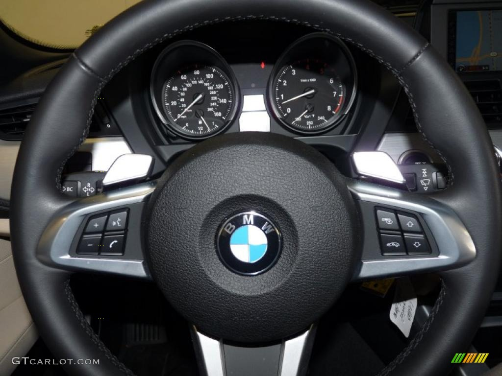 2011 Bmw Z4 Sdrive35i Roadster Beige Steering Wheel Photo