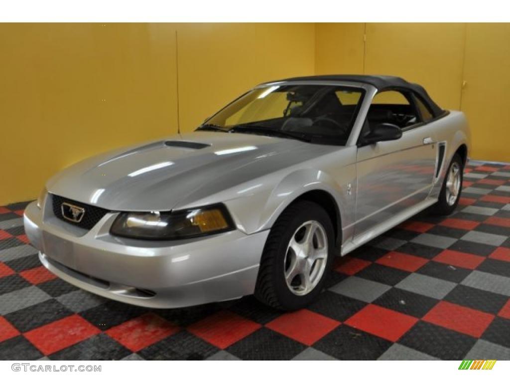 2001 Mustang V6 Convertible - Silver Metallic / Dark Charcoal photo #5