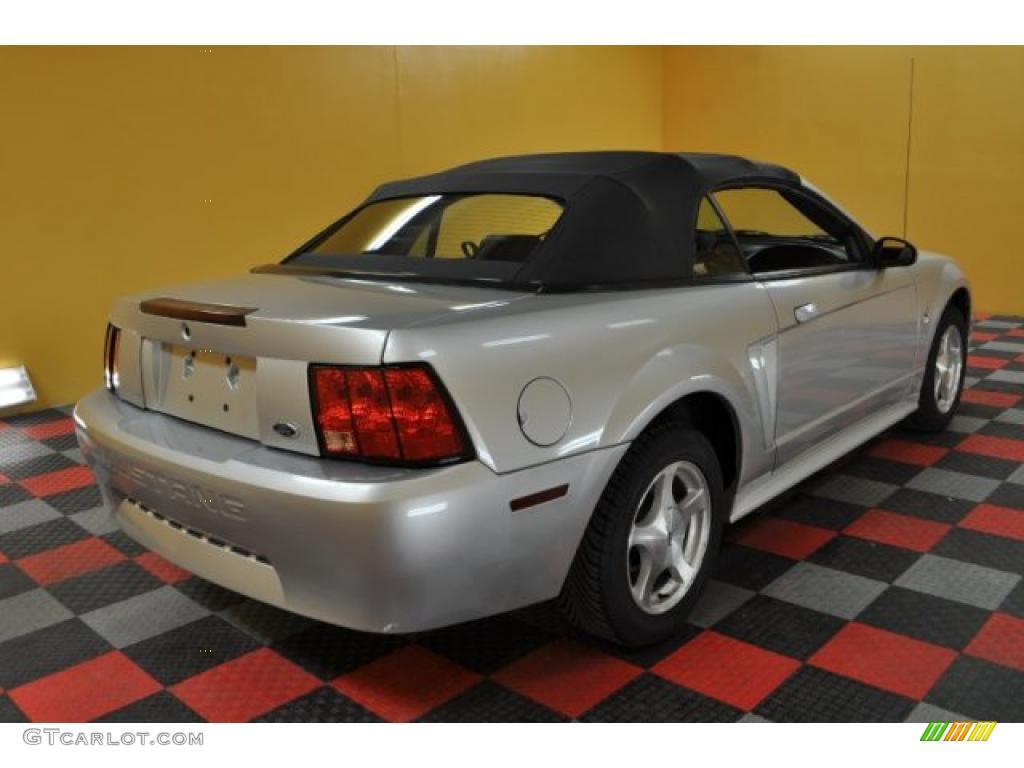 2001 Mustang V6 Convertible - Silver Metallic / Dark Charcoal photo #6