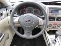 2009 Subaru Impreza Ivory Interior Steering Wheel Photo