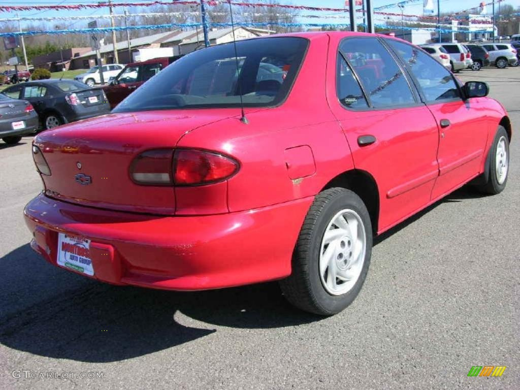 1999 bright red chevrolet cavalier sedan 47292448 photo. Black Bedroom Furniture Sets. Home Design Ideas