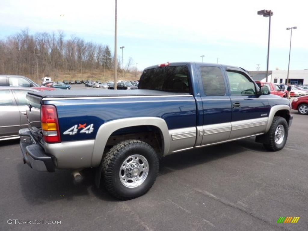 indigo blue metallic 2000 chevrolet silverado 2500 ls extended cab 4x4 exterior photo 47348186. Black Bedroom Furniture Sets. Home Design Ideas