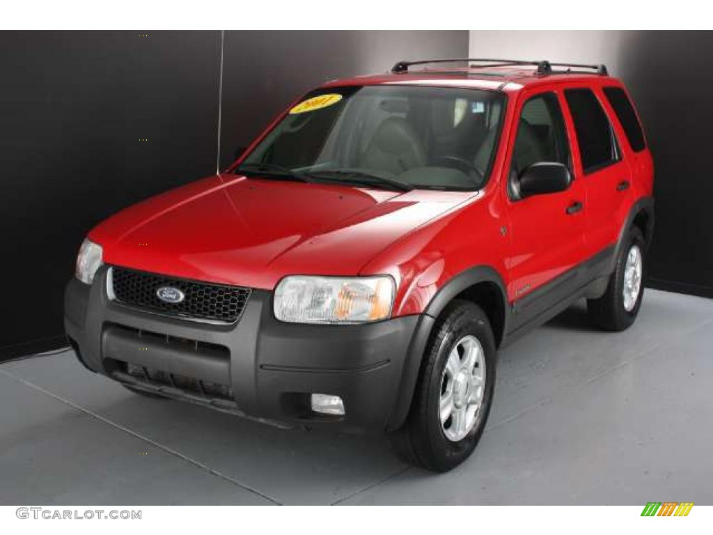 bright red metallic 2001 ford escape xlt v6 4wd exterior. Black Bedroom Furniture Sets. Home Design Ideas
