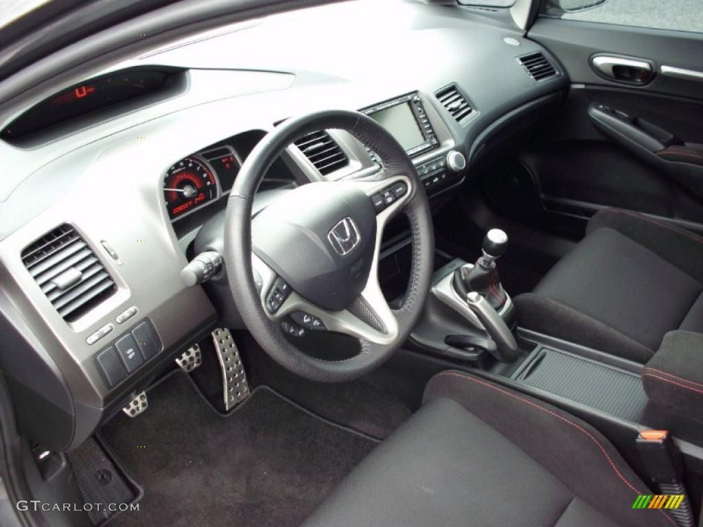 Black Interior 2011 Honda Civic Si Sedan Photo 47358629