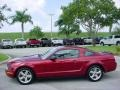 2007 Redfire Metallic Ford Mustang V6 Deluxe Coupe  photo #6