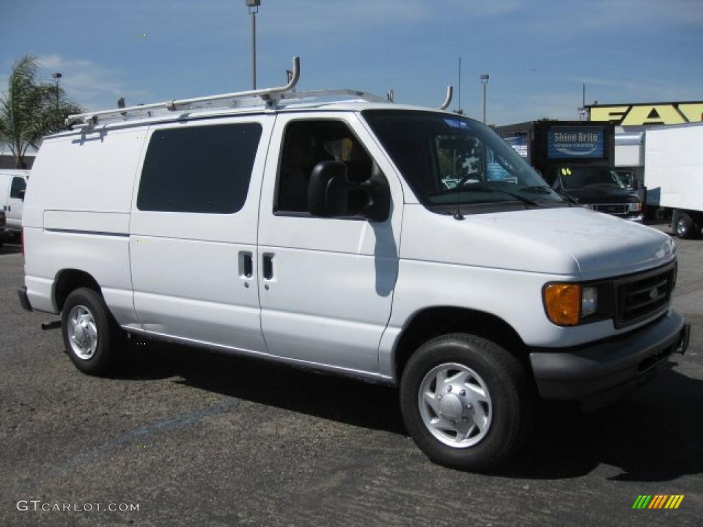 2007 oxford white ford e series van e150 cargo 47350528. Black Bedroom Furniture Sets. Home Design Ideas
