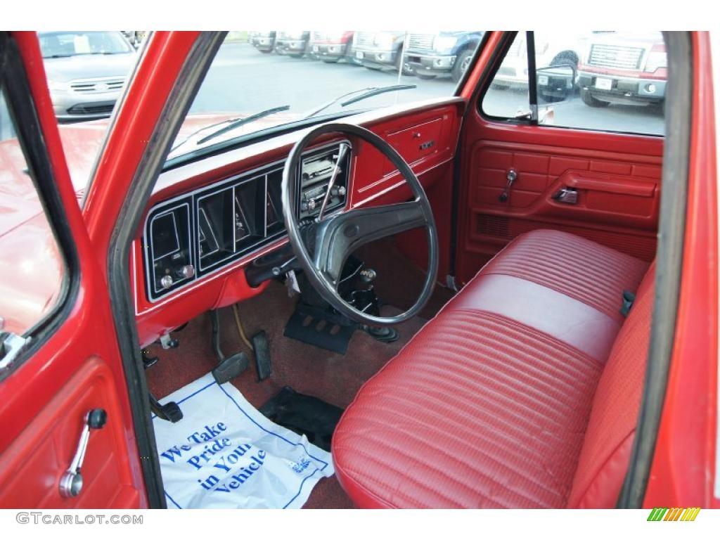 Red interior 1977 ford f150 custom regular cab 4x4 photo 47380151 gtcarlot com