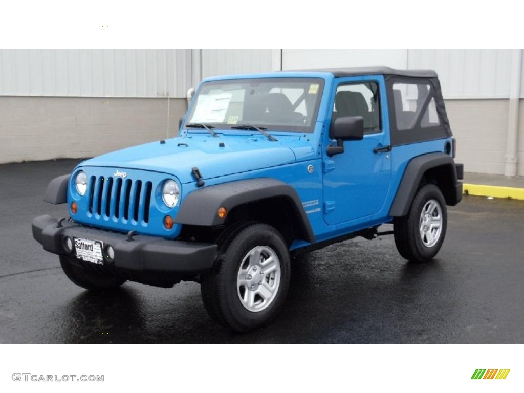 2011 Wrangler Sport 4x4 - Cosmos Blue / Black photo #1