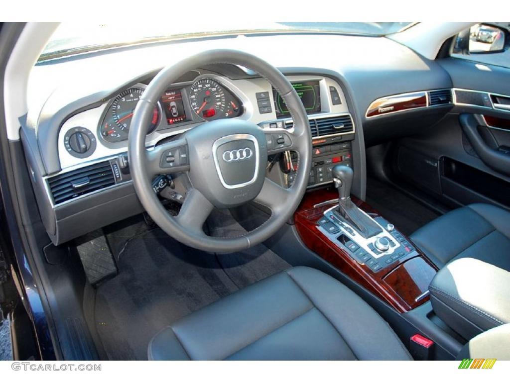 Black Interior 2008 Audi A6 4 2 Quattro Sedan Photo 47398994