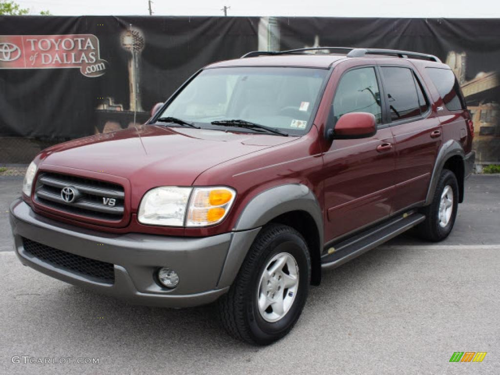 Salsa red pearl toyota sequoia