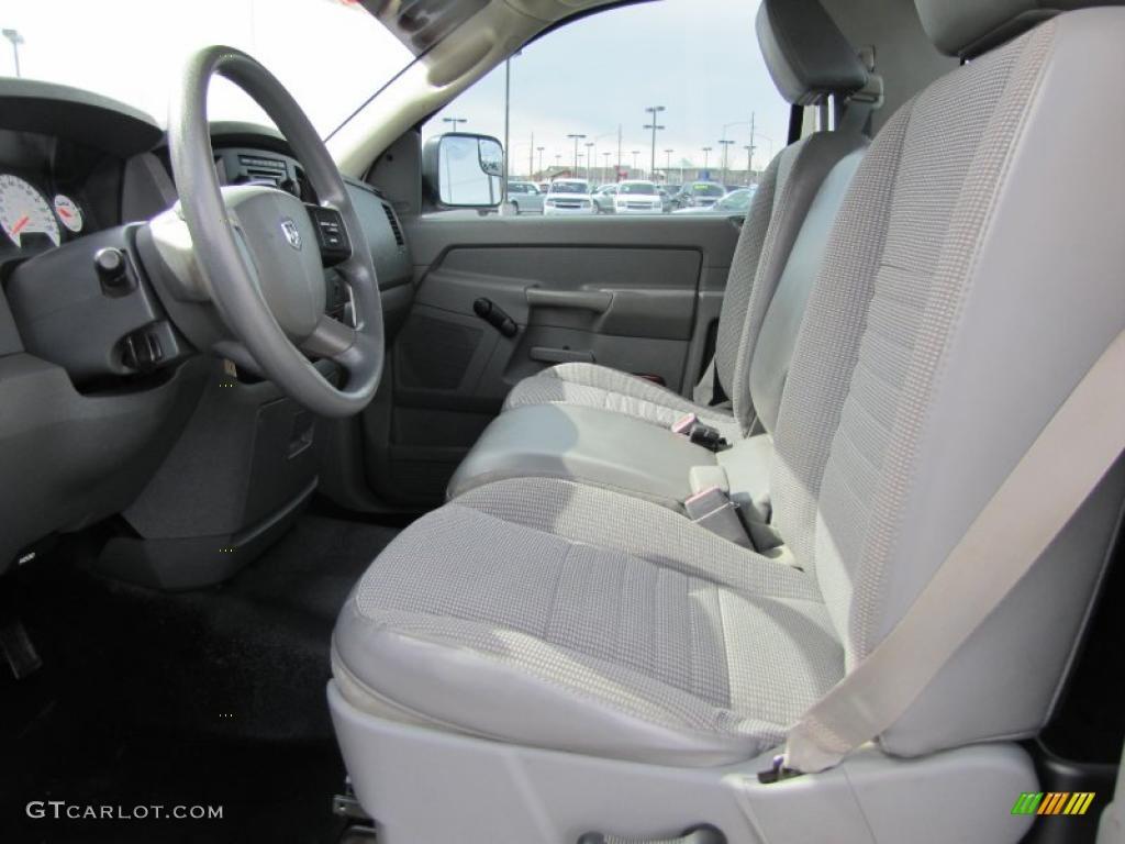 Medium Slate Gray Interior 2006 Dodge Ram 1500 St Regular Cab 4x4 Photo 47414003