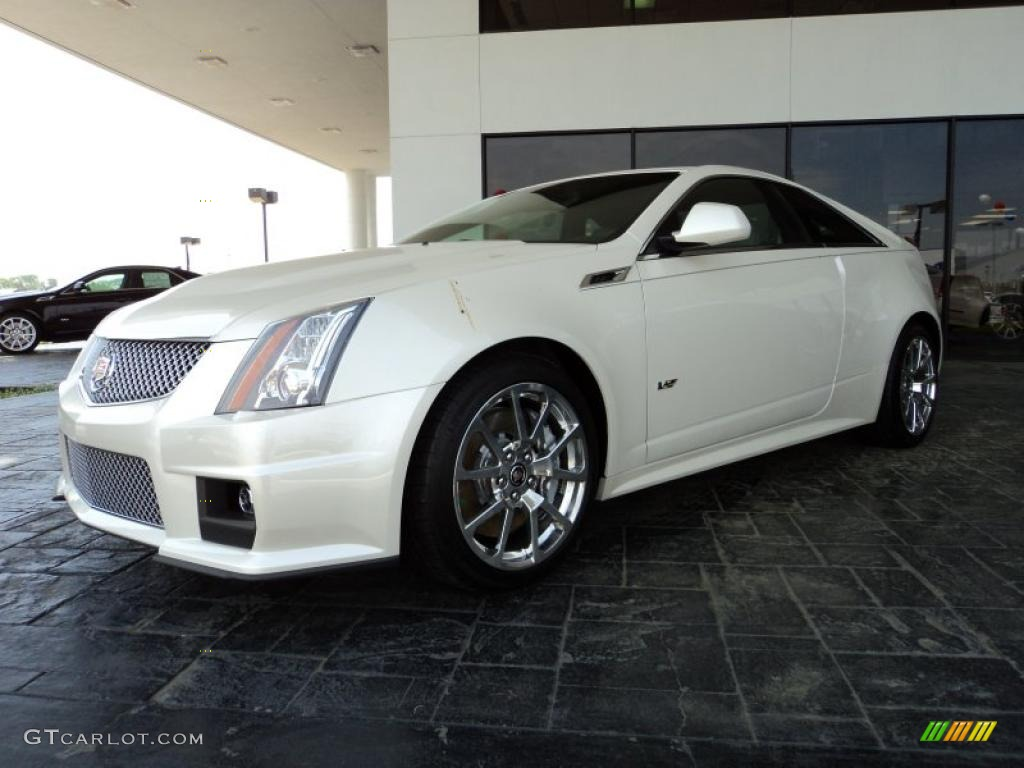 2011 White Diamond Tricoat Cadillac Cts V Coupe 47402263