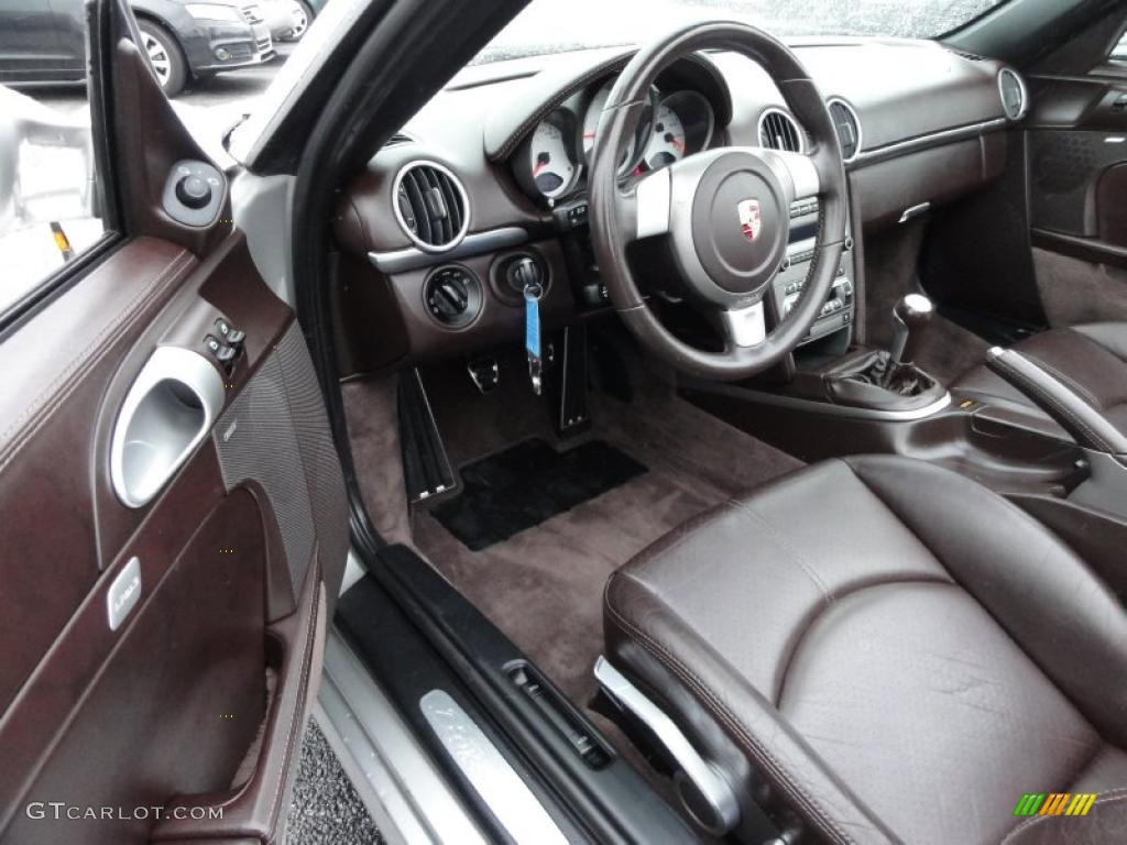 cocoa brown interior 2006 porsche boxster s photo 47419289. Black Bedroom Furniture Sets. Home Design Ideas