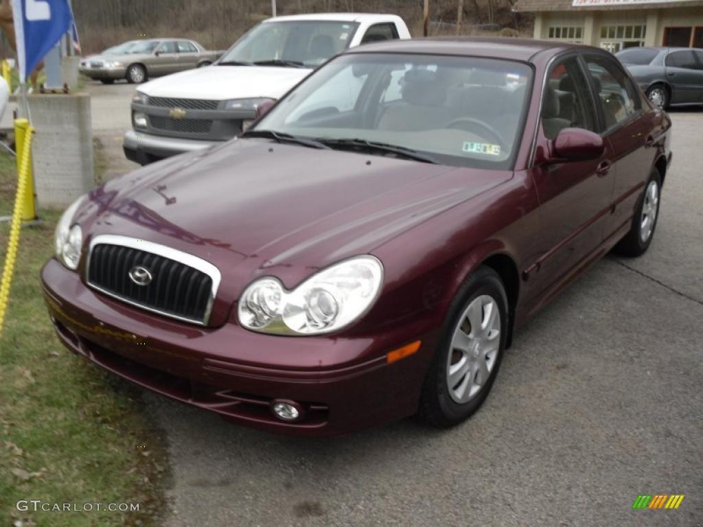 2004 Ruby Red Hyundai Sonata 47401836 Gtcarlot Com