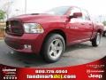2011 Deep Cherry Red Crystal Pearl Dodge Ram 1500 Sport Quad Cab  photo #1