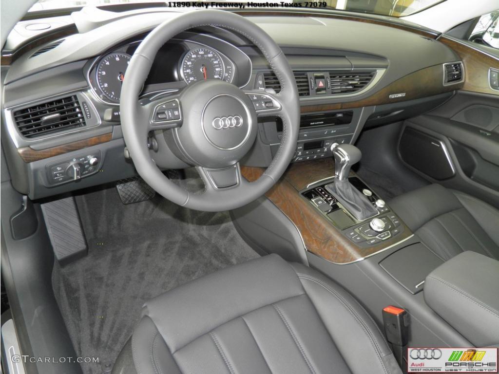 Black Interior 2012 Audi A7 3.0T quattro Prestige Photo ...