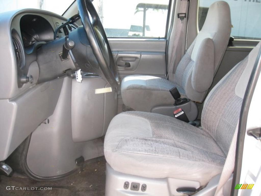 Grey Interior 1998 Ford E Series Van E350 XLT Club Wagon Photo #47446468