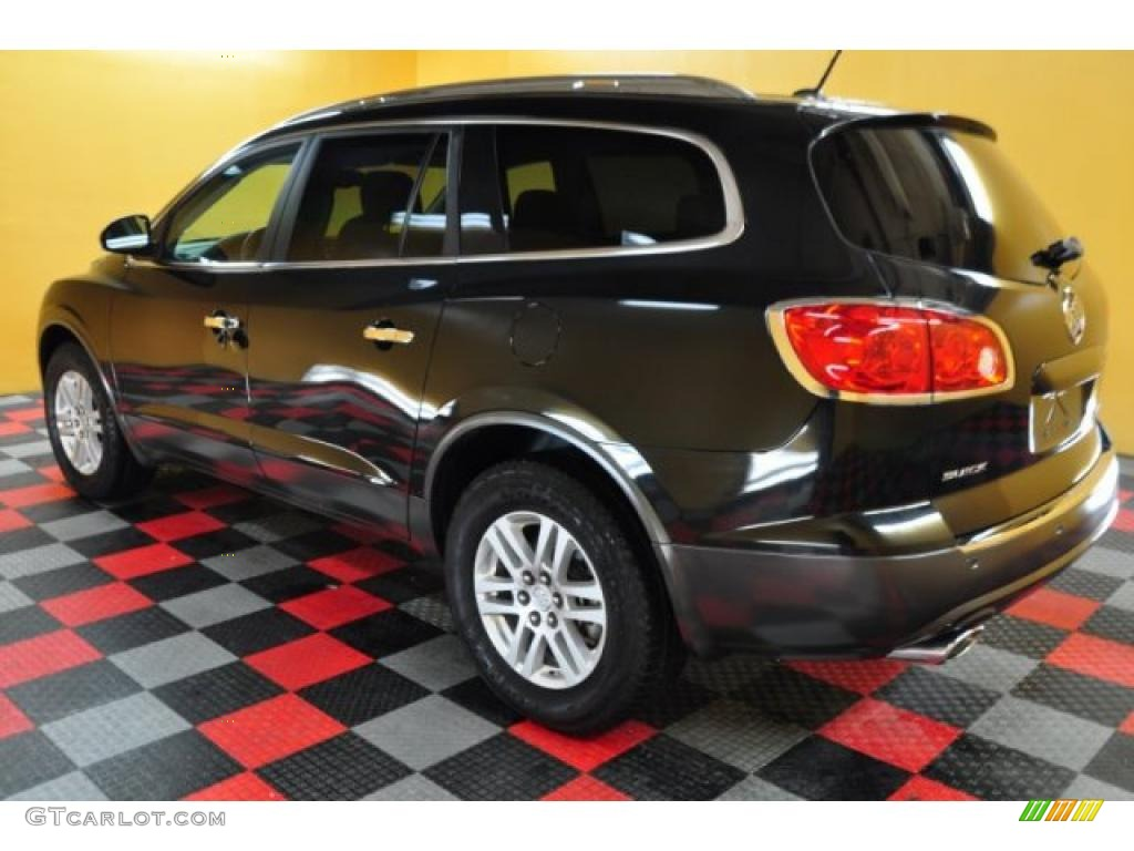 2008 Enclave CX AWD - Carbon Black Metallic / Titanium/Dark Titanium photo #3